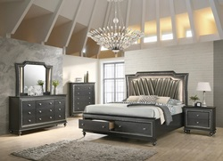 Kaitlyn Bedroom Set in Gray