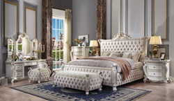 Picardy Bedroom Set with Upholstered Bed