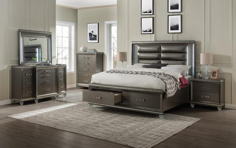 Sadie Bedroom Set with Storage Bed