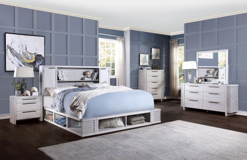 Aromas Bedroom Set with Bookcase Headboard