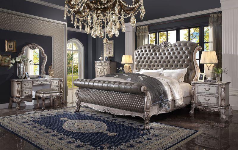 Dresden Formal Bedroom Set in Vintage Bone White