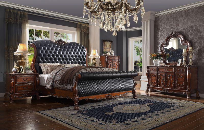 Dresden Formal Bedroom Set in Cherry Oak