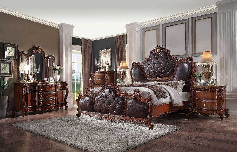 Picardy Formal Bedroom Set in Cherry Oak