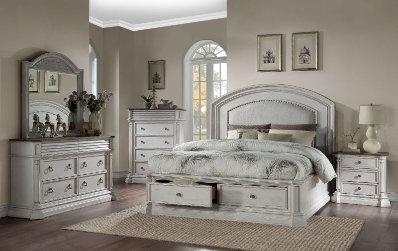 York Shire Bedroom Set Antique White