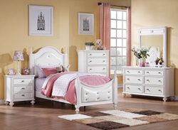 Athena Youth Bedroom Set with Upholstered Panels