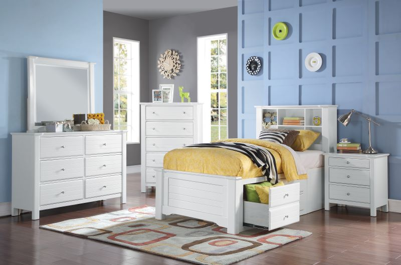 Mallowsea Youth Bedroom Set with Storage