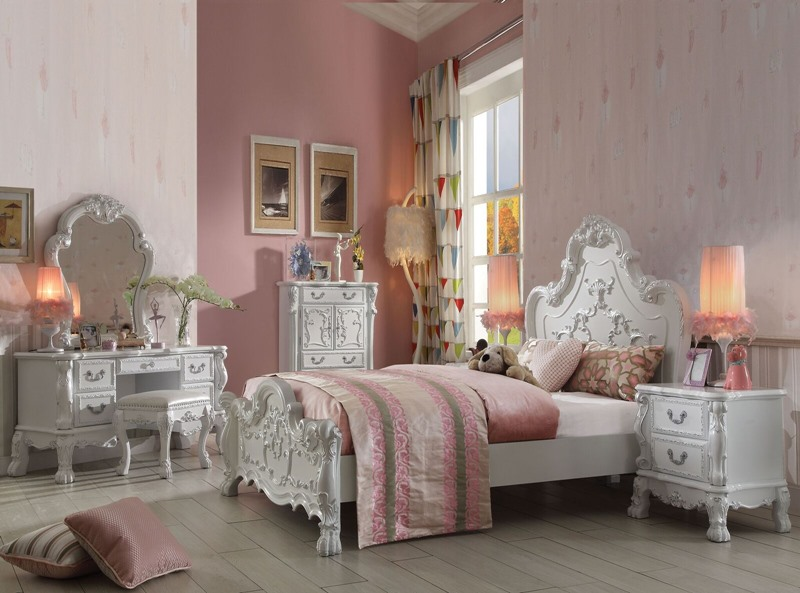 Dresden Youth Bedroom Set in Antique White
