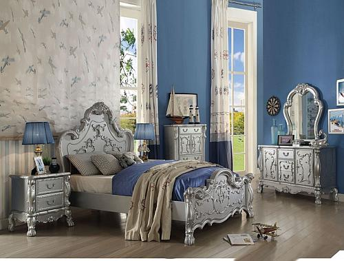 Dresden Youth Bedroom Set in Silver