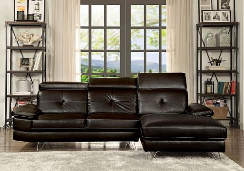 Aeryn Sectional Sofa in Espresso