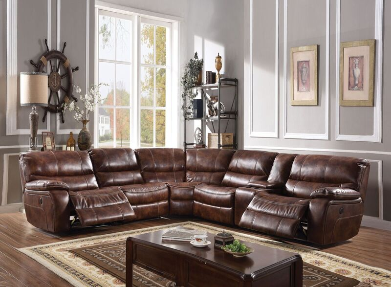 Brax Reclining Sectional in Brown