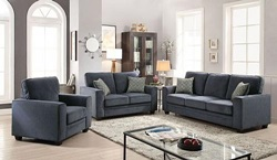 Catherine Living Room Set in Blue