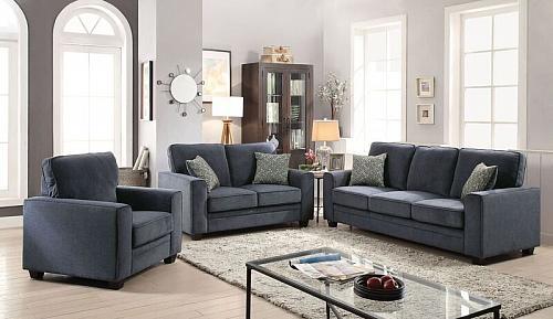 Catherine Living Room Set in Blue
