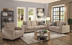 Catherine Living Room Set in Khaki