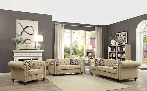 Aurelia Living Room Set in Beige