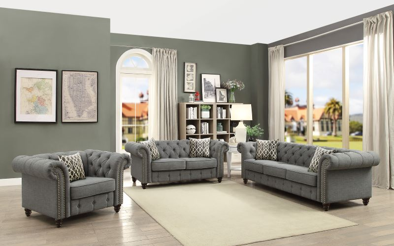 Aurelia Living Room Set in Gray