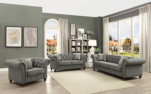 Aurelia Living Room Set in Gray