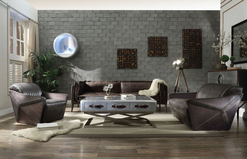 Winchester Leather Living Room Set