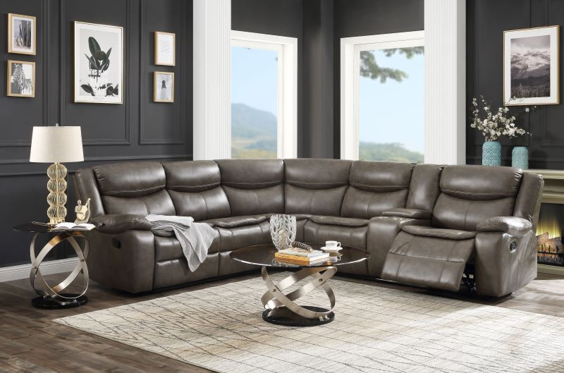 Tavin Sectional Sofa in Taupe
