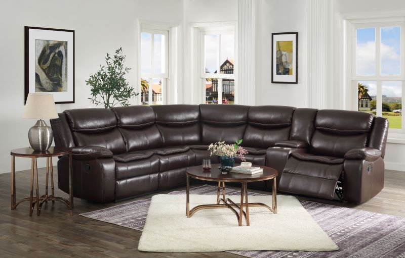 Tavin Sectional Sofa in Espresso