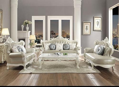 Erigeron Formal Leather Living Room Set