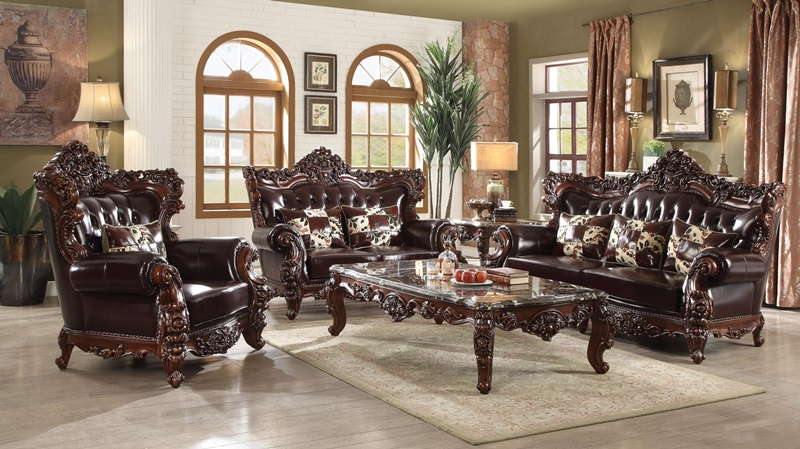 Forsythia Formal Leather Living Room Set