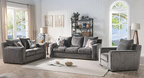 Ushury Living Room Set with Bold Accents