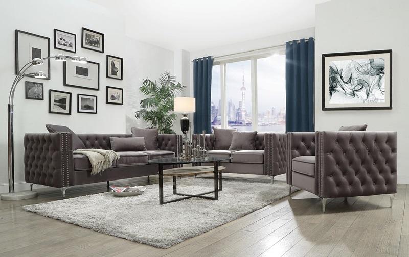 53385 Gillian Gray Sofa Set Acme Free Delivery