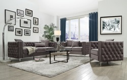 Gillian Living Room Set in Dark Gray