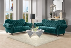 Iberis Living Room Set in Green