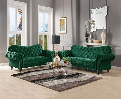 Iberis Living Room Set in Green