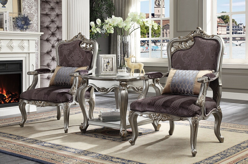 Prime Acme 53465 Picardy Formal Living Room Set In Platinum Dallas Designer Furniture Home Interior And Landscaping Ponolsignezvosmurscom