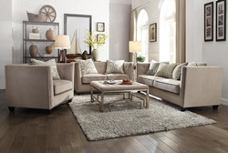 Juliana Living Room Set in Beige