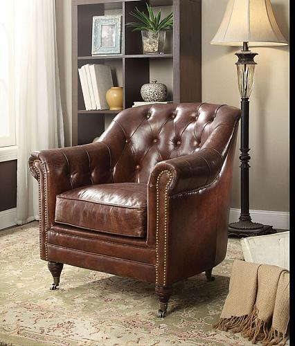 Aberdeen Leather Accent Chair