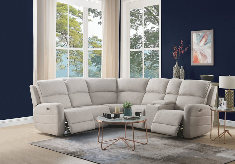 Olwen Reclining Sectional in Cream