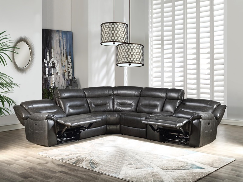 54810 Imogen Reclining Sectional Acme Free Delivery