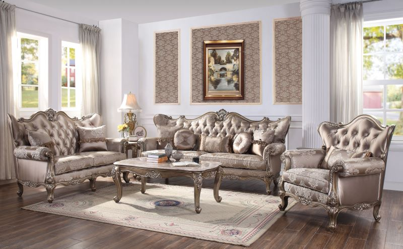 Jayceon Formal Living Room Set in Champagne