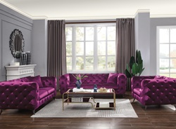 Atronia Living Room Set in Purple