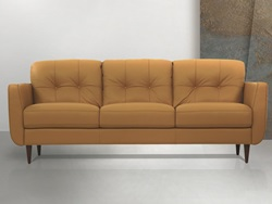 Radwan Leather Living Room Set in Camel