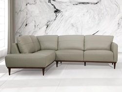 Tampa LSF Leather Sectional in Green