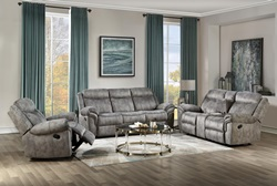 Zubaida Reclining Living Room Set in Gray