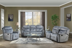 Mariana Reclining Living Room Set in Gray