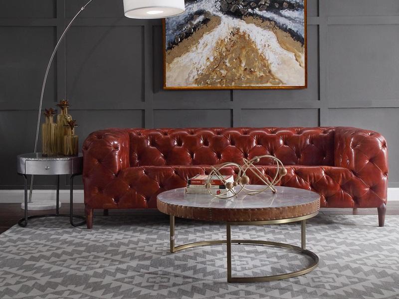 Orsin Leather Sofa