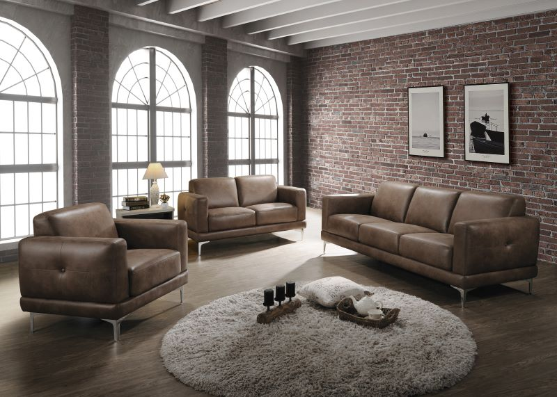 Reagan Living Room Set in Mocha