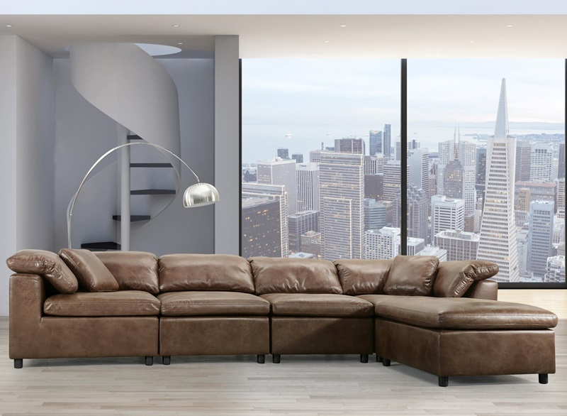 Audrey Sectional in Mocha