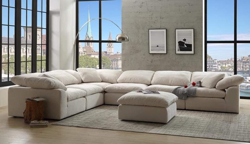 Awe Inspiring 5513 Naveen Sectional Acme Free Delivery Creativecarmelina Interior Chair Design Creativecarmelinacom