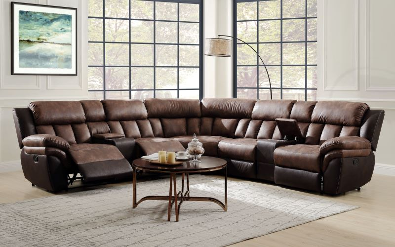 Jaylen Sectional Sofa in Toffee Espresso