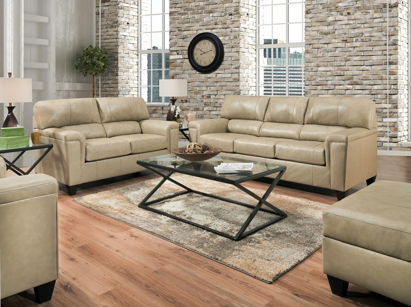 55760 Phygia Tan Leather Sofa Set | Acme | Free Delivery