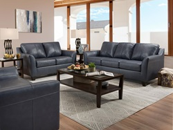 Cocus Leather Living Room Set in Blue