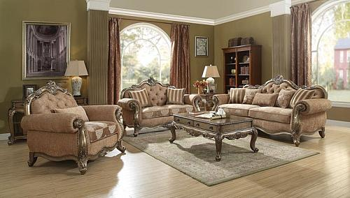 Ragenardus Formal Living Room Set in Vintage Oak