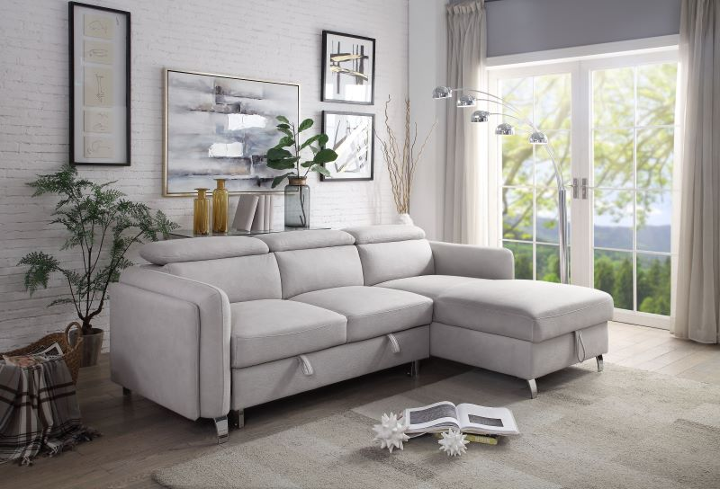 Reyes Sectional Sleeper Sofa in Beige